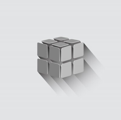 Fototapet 3D-kub ikon