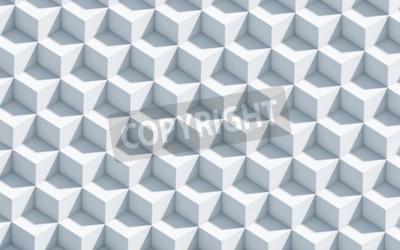 Fototapet 3d monokrom bakgrund med kuber, konst, koncept, bakgrund