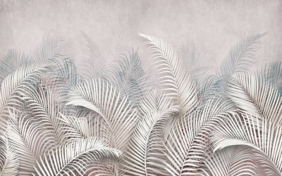 Fototapet 3d picture of palm leaves on the background