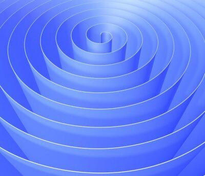 Fototapet 3D spiral, digital abstrakt bakgrundsmönster