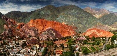 Fototapet 7 färger berg