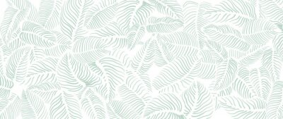 Fototapet Abstract leave background pattern vector. Tropical monstera leaf design wallpaper. Botanical texture design for print, wall arts, and wallpaper.