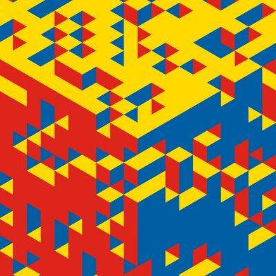 Fototapet Abstrakt 3d geometriska bakgrund. Mosaik. Vektor illustration.