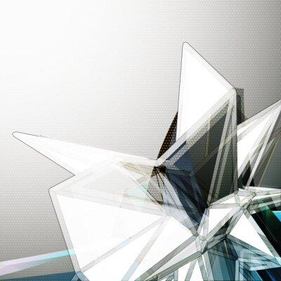 Fototapet Abstrakt 3D kristall vektor bakgrund