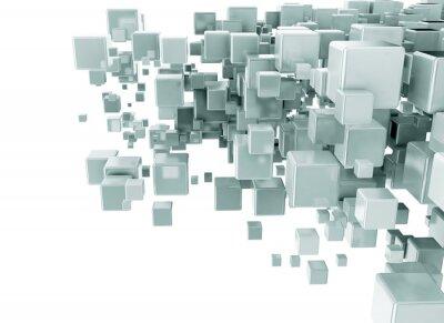 Fototapet Abstrakt 3d kuber bakgrund