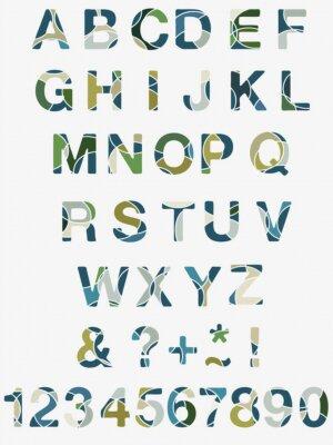 Fototapet abstrakt alfabet