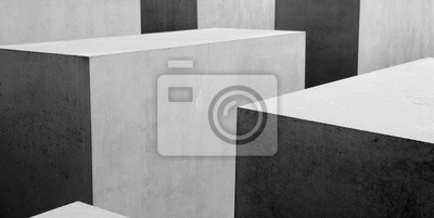 Fototapet Abstrakt b & w geometriskt mönster