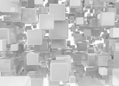 Fototapet Abstrakt bakgrund från metalliska kuber