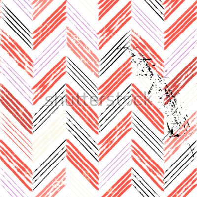 Fototapet abstrakt bakgrund, med slag och stänk, sömlösa zigzagmönster