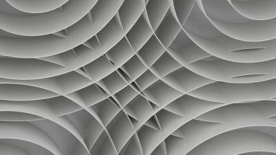 Fototapet Abstrakt bakgrund med spiraler, 3 d render