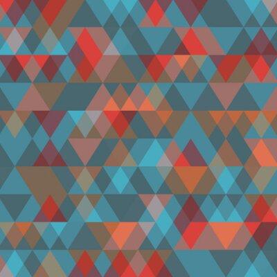 Fototapet Abstrakt bakgrund med trianglar. Vektor illustration.
