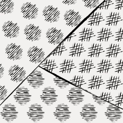 Fototapet abstrakt bakgrund mönster, med stroke och stänk, svart en