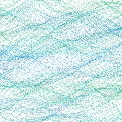 Fototapet Abstrakt blå linjer bakgrund. Vektor