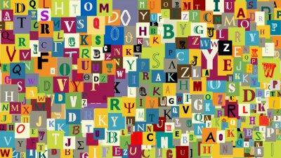 Fototapet Abstrakt bokstäverna bakgrund