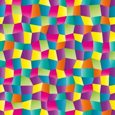 Fototapet Abstrakt färg geometriskt mönster