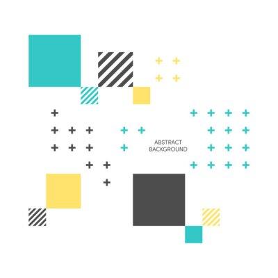 Fototapet Abstrakt färgrik geometrisk isometrisk bakgrund vektor illustration