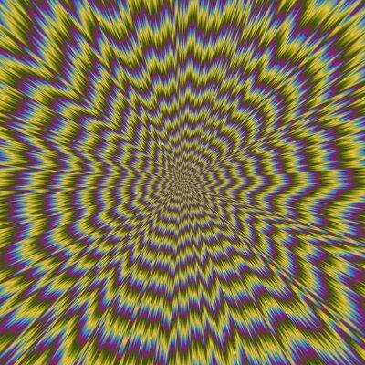 Fototapet Abstrakt färgrik illustration av hypnotisk ljusa mönster