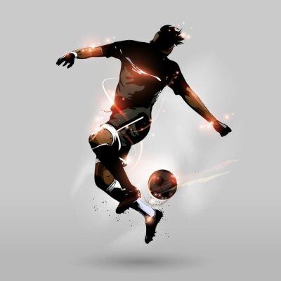 Fototapet abstrakt fotboll hoppning röra bollen