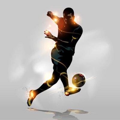 Fototapet Abstrakt fotboll snabb fotografering