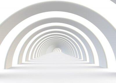Fototapet Abstrakt futuristic tunnel i en modern stil