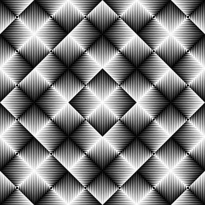Fototapet Abstrakt fyrkantig bakgrund. Sömlös geometrisk mönster