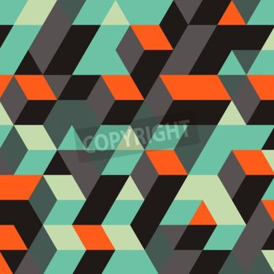 Fototapet Abstrakt Geometrisk 3D Bakgrund. Kan användas för bakgrundsbilder, webbsidans bakgrund, webbbanners.