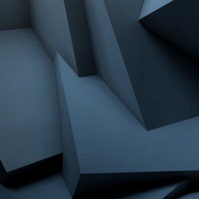 Fototapet Abstrakt geometrisk bakgrund med överlappande kuber
