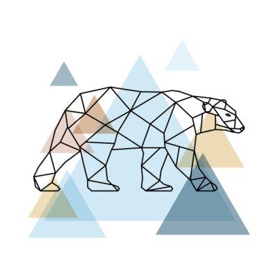 Fototapet Abstrakt geometrisk björn.