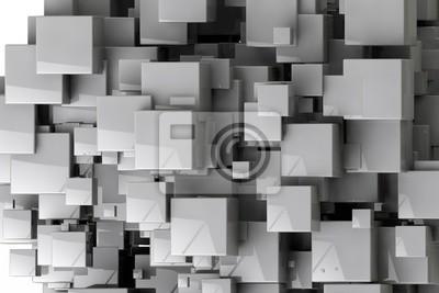 Fototapet Abstrakt geometriska kuber bakgrund 3d