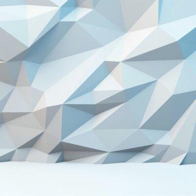 Fototapet Abstrakt grå bakgrund med polygonalt mönster. 3d bild