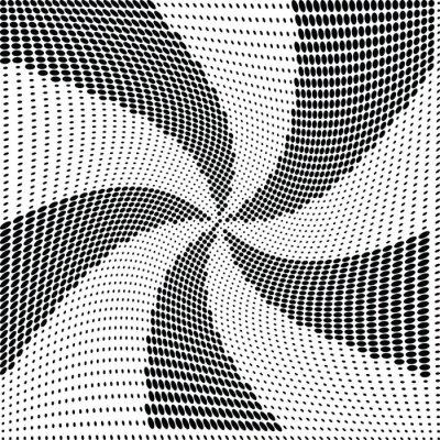 Fototapet Abstrakt halvton prick vektor