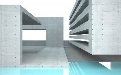 Fototapet Abstrakt interiör med turkos glas