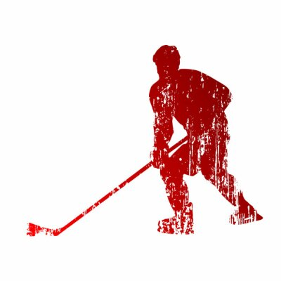 Fototapet Abstrakt ishockeyspelare