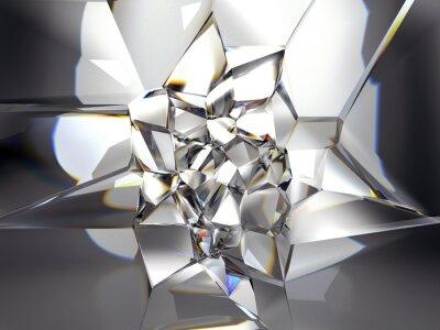 Fototapet abstrakt klar kristall bakgrund