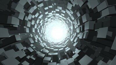 Fototapet Abstrakt kub maskhål