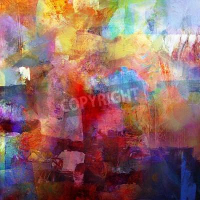 Fototapet abstrakt målad bakgrund - skapad genom att kombinera olika lager av färg