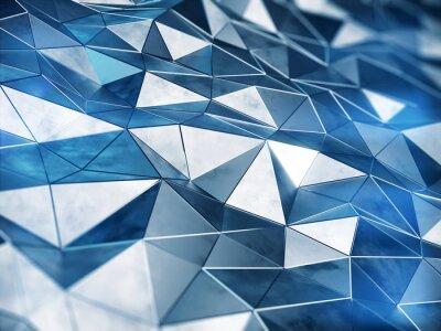 Fototapet Abstrakt metall bakgrund 3d