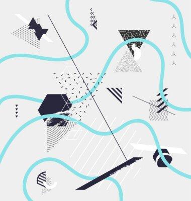 Fototapet Abstrakt minimalistisk geometrisk komposition