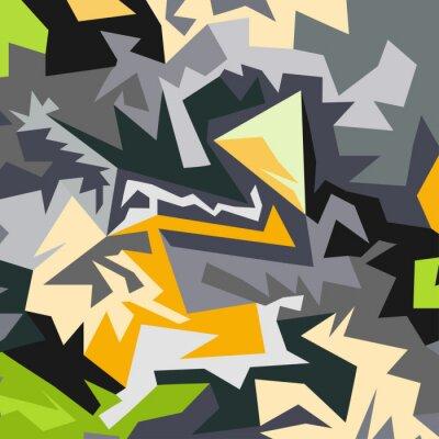 Fototapet Abstrakt mönster av polygoner vektor illustration