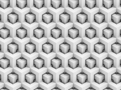 Fototapet Abstrakt polygonal 3D seamless - geometrisk lådkonstruktion bakgrund