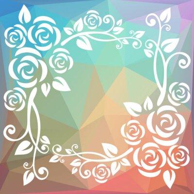 Fototapet abstrakt polygonal gränsen