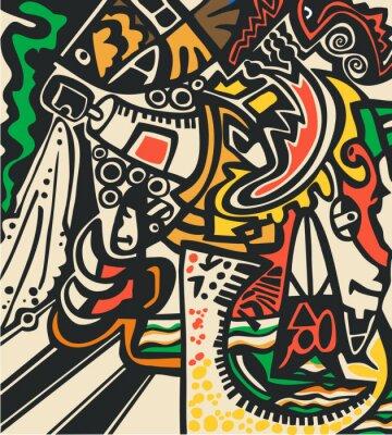 Fototapet Abstrakt psychedelic bakgrund