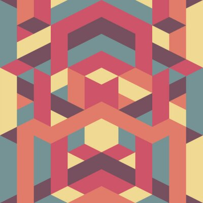 Fototapet abstrakt retro geometriska mönster