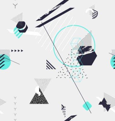 Fototapet Abstrakt sömlös geometrisk bakgrund