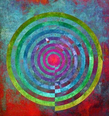 Fototapet abstrakt struktur center spiral