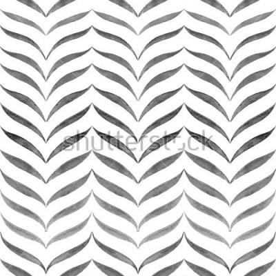 Fototapet Abstrakt svart vit bakgrund. Vektor Solomon Handritad Monsters.