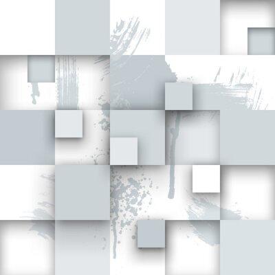 Fototapet Abstrakt Texture med fyrkanter och färgstänk.