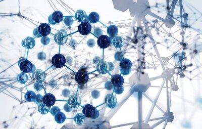 Fototapet abstrakt vetenskap bakgrund