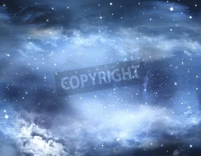 Fototapet abstrakt vinterhimlen, bakgrund