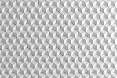 Fototapet Abstrakt vita lådor trappa textur bakgrund 3d
